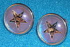 Vintage Butterfly Wing Round SB Earrings Star