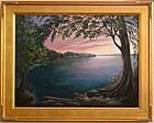 Signed Oil O/C Landscape Painting American Regional