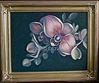 Signed Original American Oil Phalaenopsis Mom's Orchid Flower
