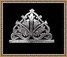 Vintage Signed Antique Art Nouveau Victorian Silver Pin